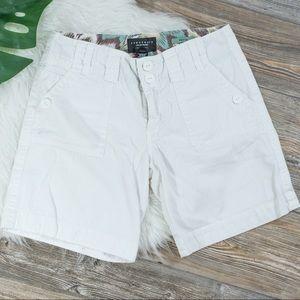 Sanctuary white cargo shorts